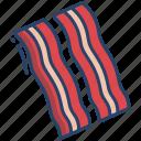 bacon, strips