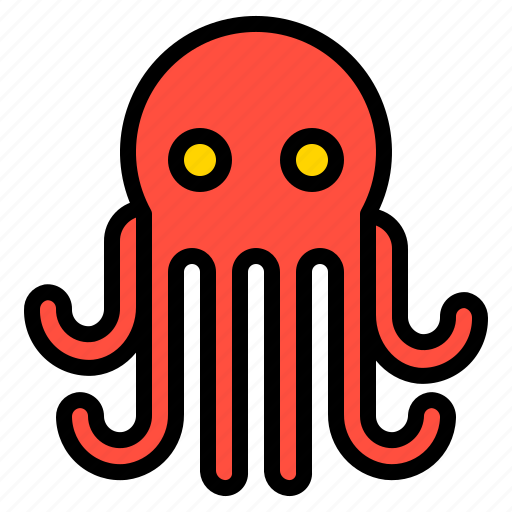 animal, food, octopus, sea icon