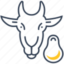 animal, food, goat, meat icon