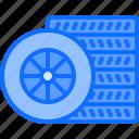tire, service, mechanic, transport, set, car icon