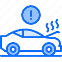 breaking, car, hood, mechanic, service, smoke, transport