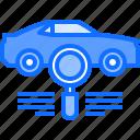 car, diagnostics, mechanic, scan, search, service, transport icon