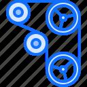 belt, car, mechanic, service, timing, transport icon