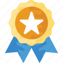 award ribbon badge, guarantee badge, quality badge, star badge, winner badge icon