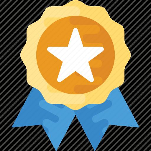 award ribbon badge, guarantee badge, quality badge, star badge, winner badge icon
