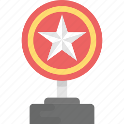appreciation award, competitive cup, gold trophy, star award, star shield icon