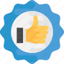 best choice, favorit product, medal like, seal of approval, thumb up badge icon