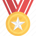 game medal, gold medal, olympic medal, sports award, star medal icon