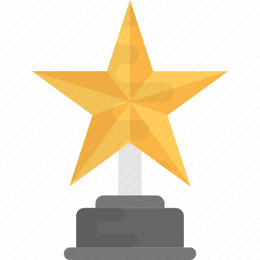 achievement, award, gold star award, prize, trophy icon