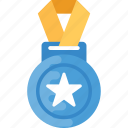 game medal, medal, olympic medal, sports award, star medal icon