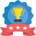 appreciation symbol, award winner, champion badge, reward, winner badge icon