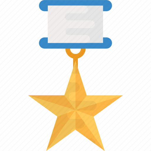 courage medal, force medal, gold medal, medal, star award icon