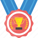 appreciation symbol, award winner, champion medal, reward, winner medal icon
