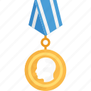 best performance, best prize, gold medal, ribbon award, winner award icon