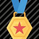 best performance, gold award, gold medal, sports medal, winner award icon