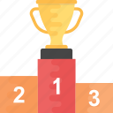 leaderboards, medal rostrum, podium, prize stage, sports podium icon