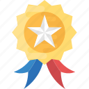 badge, emblem, military badge, rank, star badge icon