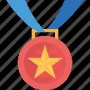 achievement, best performance, reward, star medal, winner award icon
