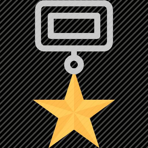 badge, courage award, emblem, military badge, star badge icon