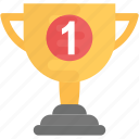 award, first position trophy, prize, trophy cup, winner icon