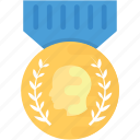 achievement, emblem, honor badge, insignia, military badge icon