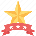 achievement award, honor prize, ranking badge, rating symbol, star badge icon