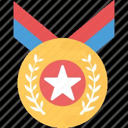 award, gold medal, medal, olympic award, sports medal icon