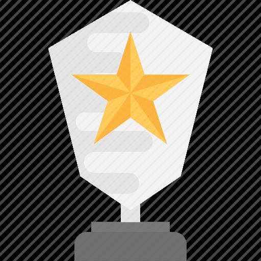 achievement, star award, success symbol, victory sign, winner shield icon