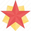 glorious badge, glossy shield, pentagonal star, security badge, star shield icon