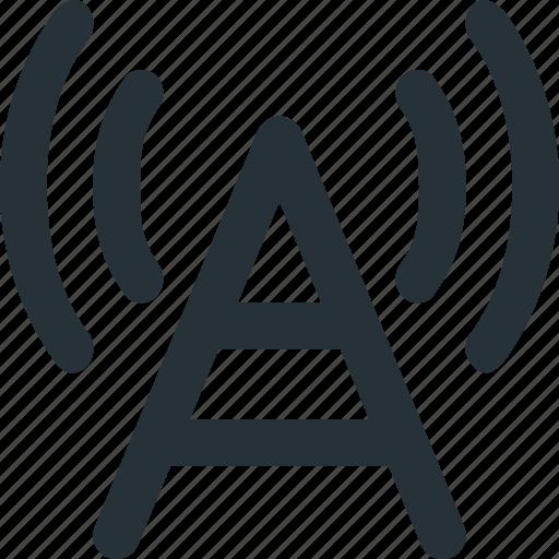 antenna, data, media, radio, transmition, wave icon