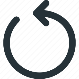 arrow, controls, media, rewind, rotate, ui icon