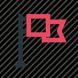 advertisement, business, flag, marketing, media, network, news icon
