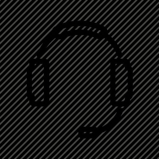 headphones, headset icon