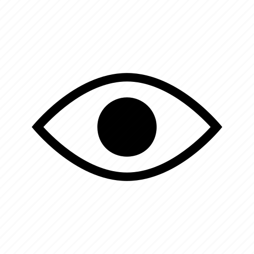 eye, find, look, search, view, vision icon