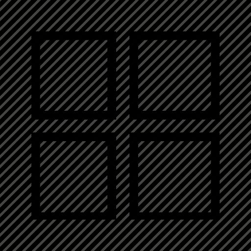 grid, grid 4, grid four, page, sheet icon