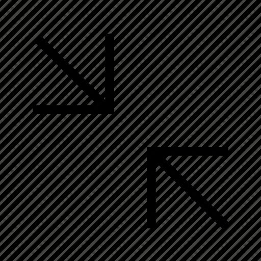 arrow, direction, minimise, move, navigation icon