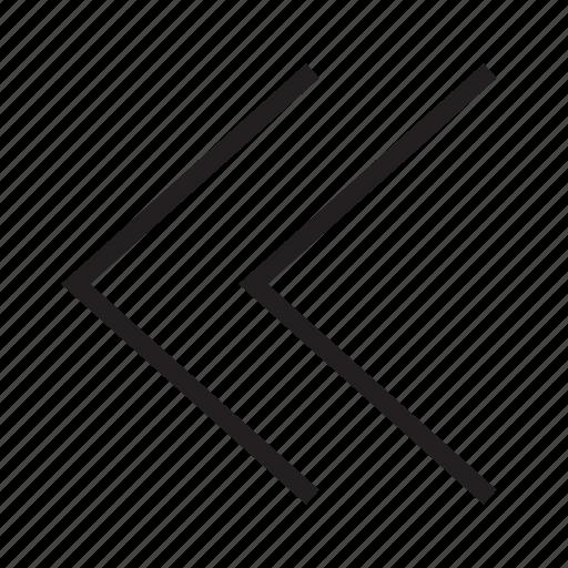 backward, direction, left, move, rewind icon