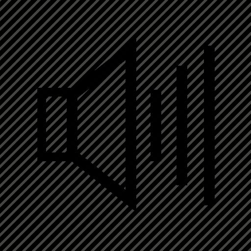audio, full, loud, sound, volume icon