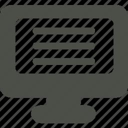 desktop, monitor, pc, tv icon