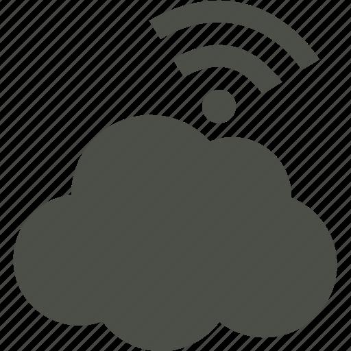 cloud, data, rain, upload icon