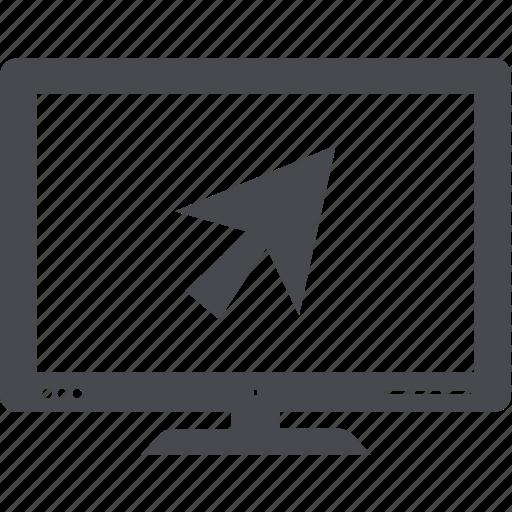 desktop, display, monitor, pc, tv icon