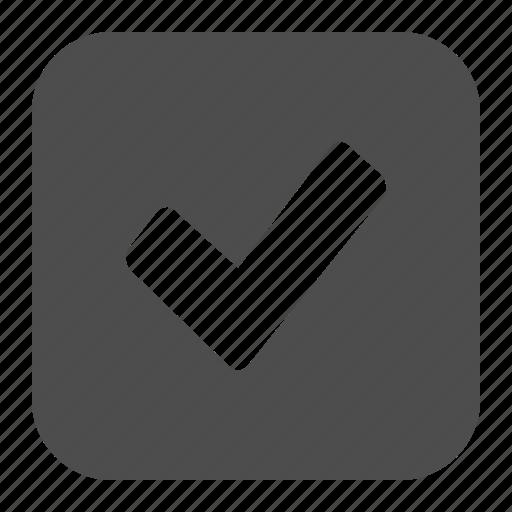 button, buttons, check, checkmark, square, verified, web icon