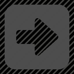 arrow, button, buttons, right, square icon