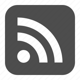 button, buttons, feed, multimedia, rss, square, web icon