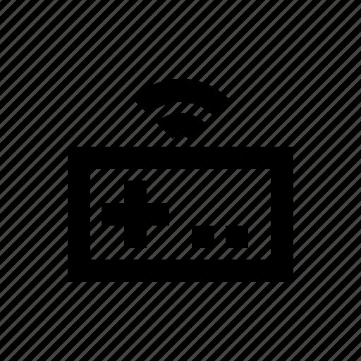 electronics, gamepad, hardware, media, multimedia, wireless icon