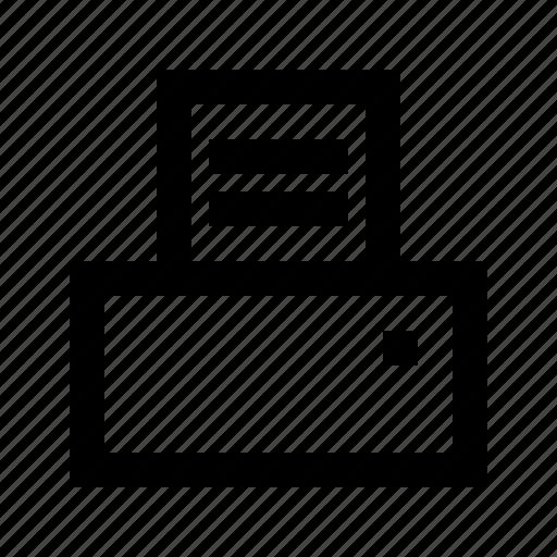 electronics, hardware, media, multimedia, printer icon