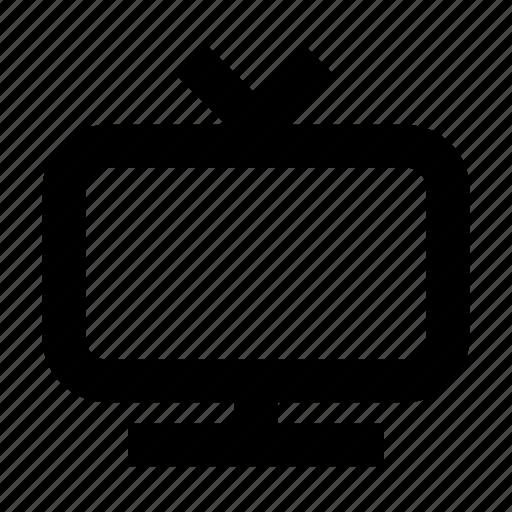 electronics, hardware, media, multimedia, television icon