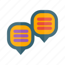 bubble, chat, chats, communication, conversation, dialogue, message icon