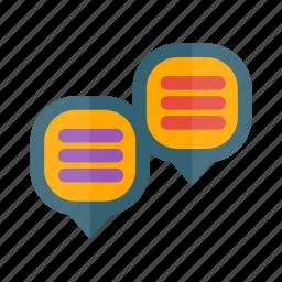 bubble, chat, chats, communication, conversation, dialogue, message icon
