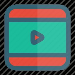 film, media, play, video icon